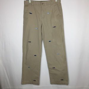 Vineyard Vines 18 khaki pants embroidered sharks